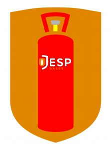 image to show colours of propane gas bottles inside the Jesp gases main logo