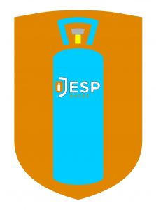 this image shows the colour of butane bottles inside our jesp logo