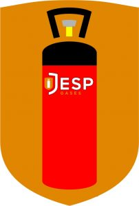 image to show colours of forklift truck gas bottles inside the jesp gases main logo
