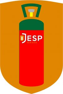 this image shows the colour of a patio gas cylinder inside jesp gases main logo